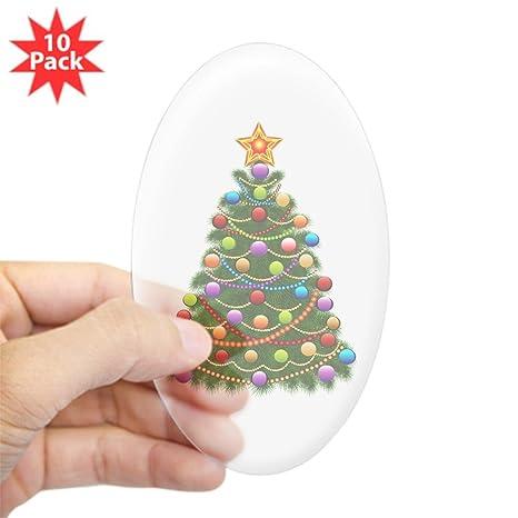 Elegant Christmas Ornaments.Amazon Com Sticker Clear Oval 10 Pack Elegant Christmas