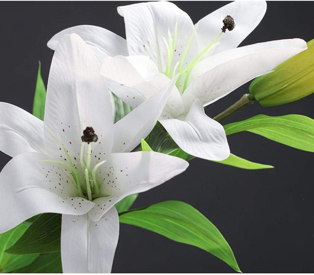 lujiaoshout Artificial Mini Lirio de Seda de la Flor de la simulación Flor de la Cala Ramo Falsos Plantas acuáticas para Partido del hogar decoración de la Boda