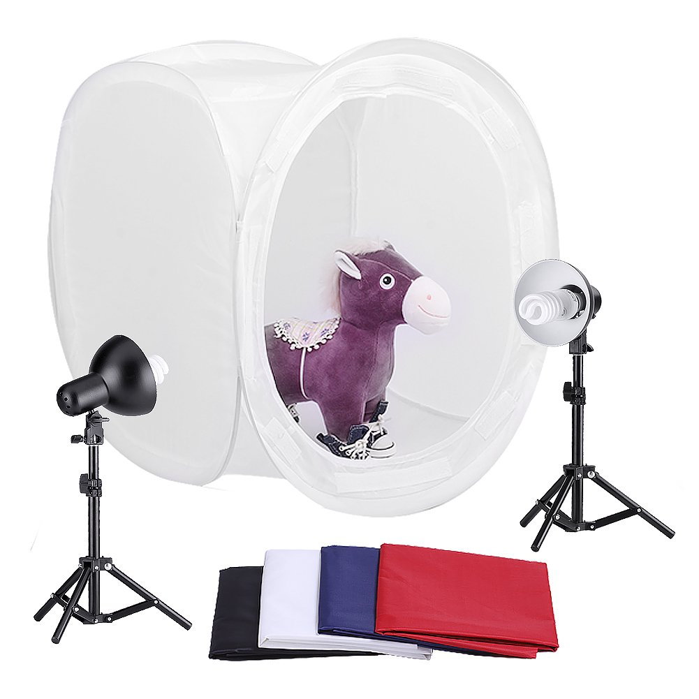 Amazon.com  Neewer 30 /76cm Photography Shooting Tent Kit Including (2) 45 Watt 5000K Light Bulbs (2) Studio Lights (1) 30 /76cm Studio Light Tent with ...  sc 1 st  Amazon.com & Amazon.com : Neewer 30