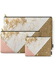 Society6 Gold Marble Collage Carry-All Pouch