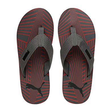 2d4c87c7e PUMA Men s Gypsum IDP Black-High Risk Red-Dark Shadow Flip Flops Thong  Sandals