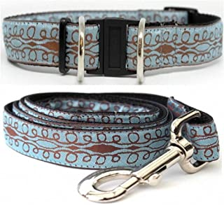 product image for Diva-Dog 'Calligraphy Blue' Dog Collar with Safety Buckle