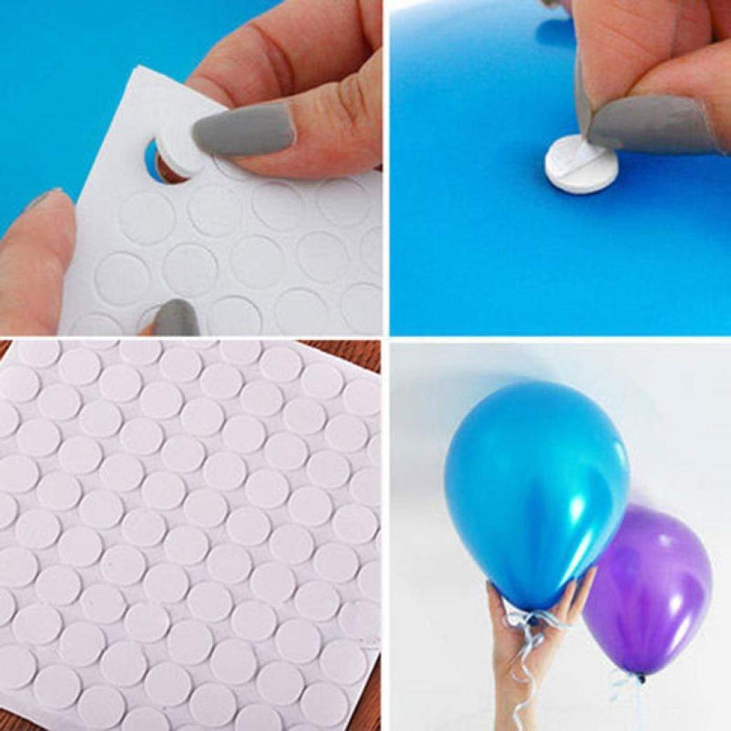 Fishinnen Home Decoration 200 Points Balloon Attachment Glue Balloon Attachment Glue dot Attach Balloons to Ceiling or Wall Balloon Stickers Wedding Party Supplies