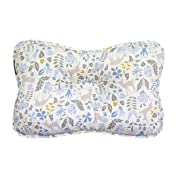 Baby Pillow for Newborn Breathable 3D Air Mesh Organic Cotton, Protection for Flat Head Syndrome Bambi Blue