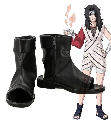 NARUTO Anime Yuhi Kurenai Cosplay Shoes Boots Custom Made