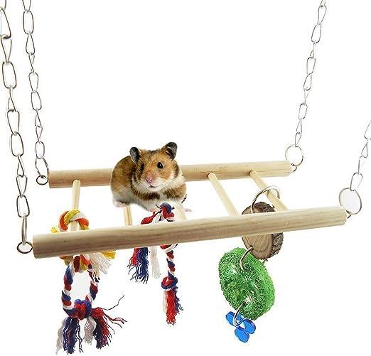 bluemoo roedores Crazy Climber acrobacias de escalera de cuerda, pequeña mascota juguete Suspensión puente: Amazon.es: Productos para mascotas