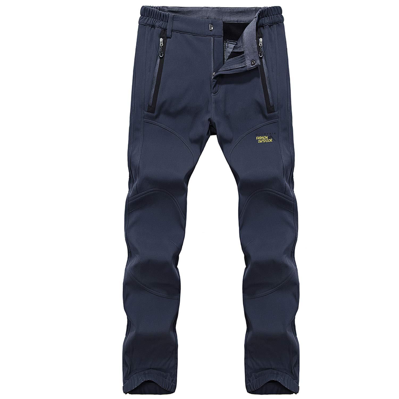 Ynport Crefreak Pantalones para Hombre al Aire Libre a Prueba de Viento Softshell Warm Fleece Forrado Repelente al Agua Senderismo Escalada Pantalones
