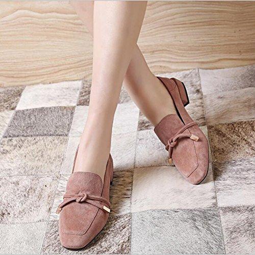 scarpe pigre comode da in scarpe scarpe da punta mocassini donna piatte pelle con Mocassini decorati Rosa scarpe a ZZZJR guida 5XnqZW6wY