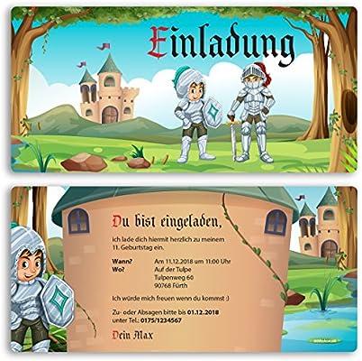 Invitación para cumpleaños (5 unidades) Caballero Medieval ...