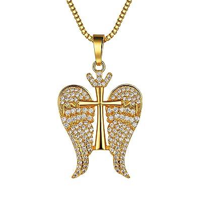 Croix Collier Or Pendentif D'ange Femme Aigle Suplight Plaqué Bijoux dQxhCostBr