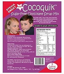 Cocoquik Sugar-free, Stevia Sweet, Chocolate Syrup Mix - 25 oz. (705 g)