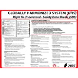 ZING 6038 Eco GHS Poster, Safety Data Sheet Format, 18HX24W