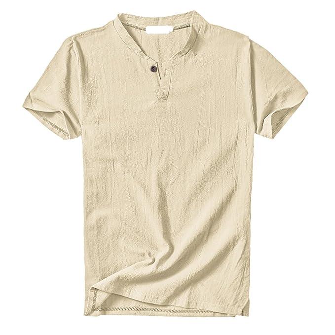 Sommer Herren Freizeit Langarm Hemd Leinen Ultra-dünne T-Shirt gewaschen Knopf