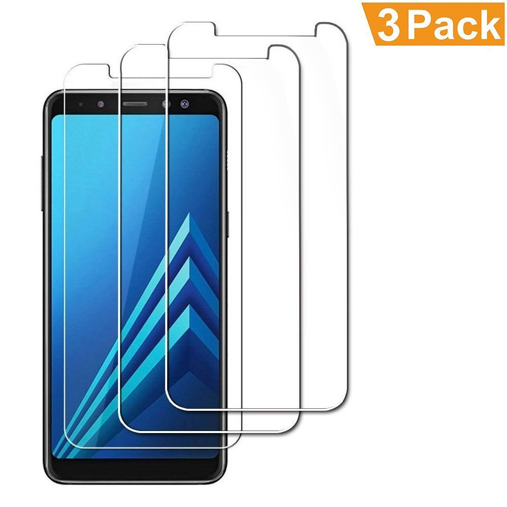 [3-Pack] Samsung Galaxy A8 2018 Screen Protector, MOCACA 9H Hardness 99% HD Clarity Premium Tempered Glass Screen Protector for Samsung Galaxy A8 2018 [Not Full Coverage]