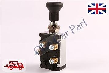 Interruptor de giro de 2 niveles para ventilador de luz, diseño vintage de tractor 12/24 V, 30 A: Amazon.es: Coche y moto