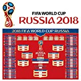 #2: JINSEY 2018 FIFA World Cup Wall Chart Poster, 16x24 Inches Russia 2018 World Cup Poster, Customized with US EST TIME