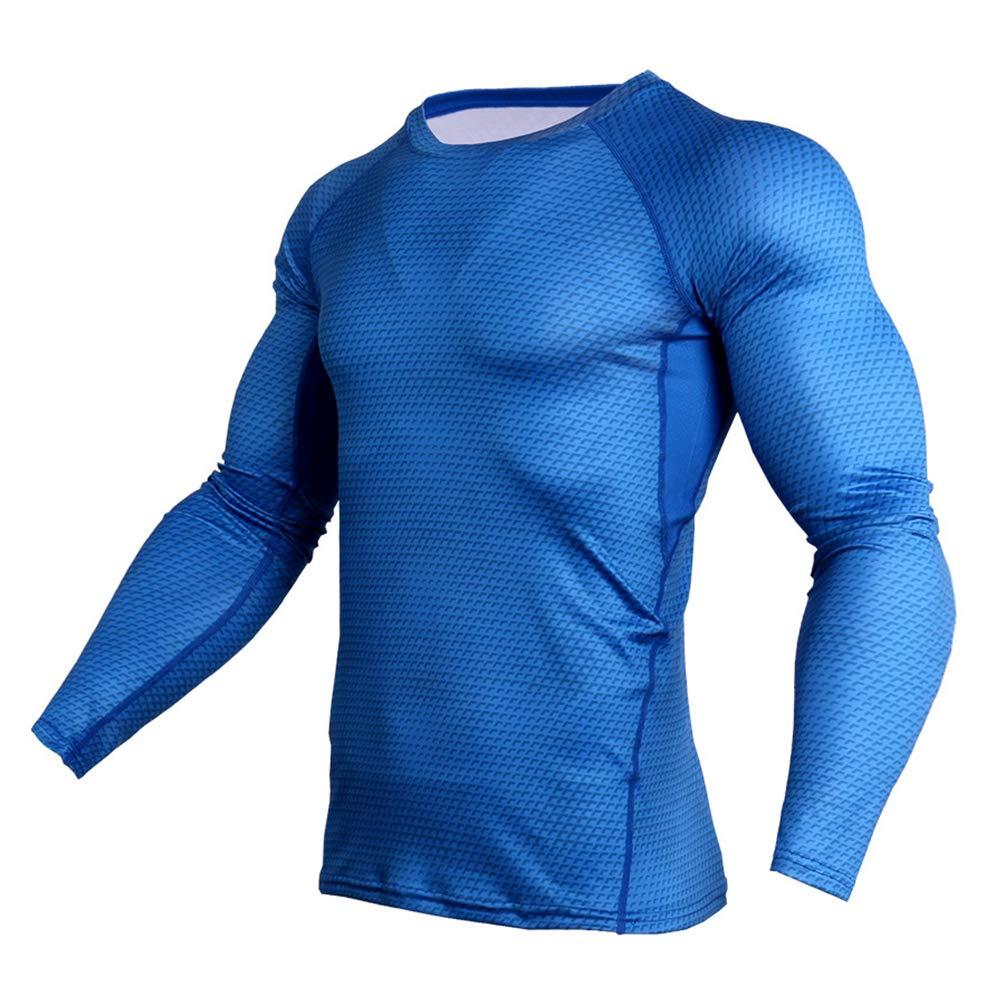 Yujeet Ensembles de Compression pour Hommes V/êtements Serr/és /À Manches Longues Fitness pour Le Bodybuilding /& Texture Tendue Pantalon de Sport pour Homme
