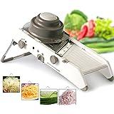 SLC Adjustable Mandoline Slicer Kitchen Stainless Steel Manual Cutter Shredder Julienne for Slicing Food Fruit Vegetables