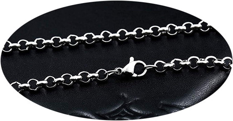 Beydodo Cadenas Acero Inxidable Cadena Rolo Cadenas de Collar Hombre Plata