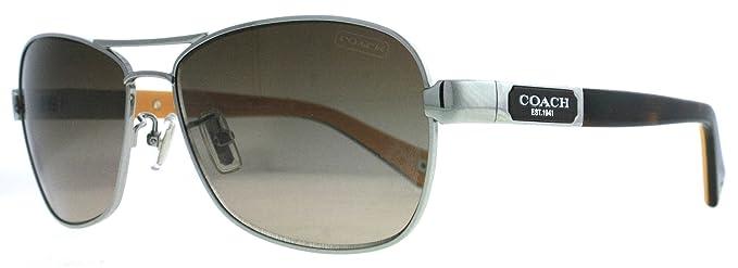 Coach - Gafas de sol - para hombre SILVER/DARK TORTOISE ...