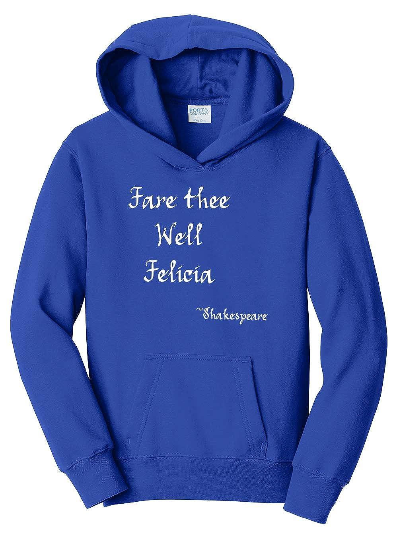 Tenacitee Girls Fare Thee Well Felicia Hooded Sweatshirt