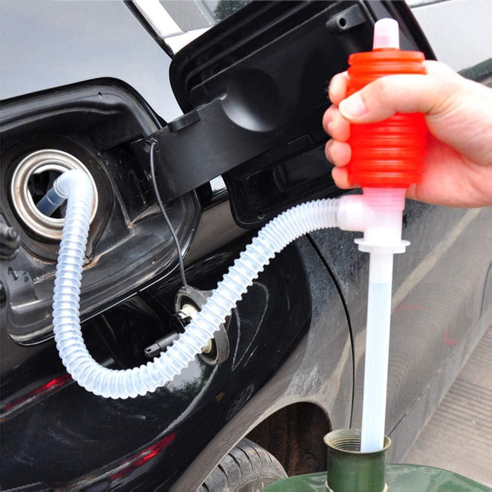 Asdomo Lot de 4 Pompes /à Siphon Manuel universelles pour Essence Carburant Diesel 40,5 cm