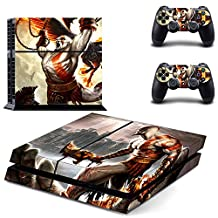 PrideCroatia PS4 Console and Wireless Controller Skin Set -God Of War