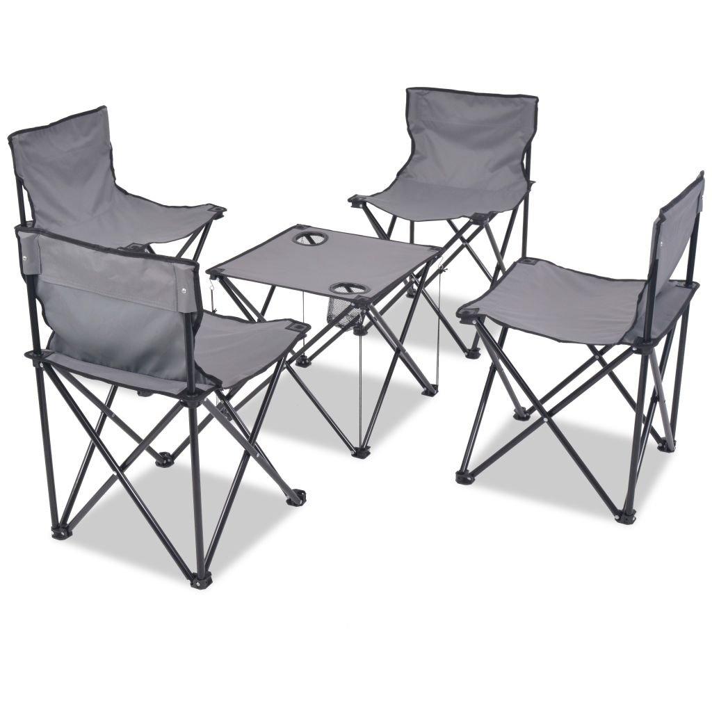 SHENGFENG Camping Möbel Faltbare Tisch und Stuhl-Set für Wandern & Camping & Strand & Angeln & Outdoor & Reise