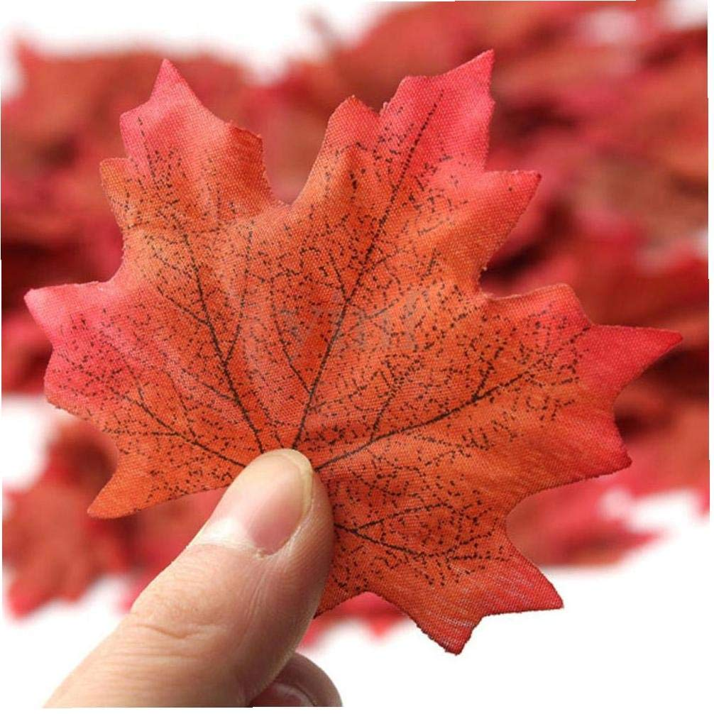 300pcs Acero Artificiale Foglie Fall Leaves Foglie Di Seta Di Simulazione Faux Autumn Leaves Perfect Natural Decorazioni Autunnali Adatto Per La Decorazione Del Partito