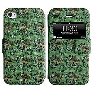 LEOCASE simpático personaje Funda Carcasa Cuero Tapa Case Para Apple iPhone 4 / 4S No.1004830