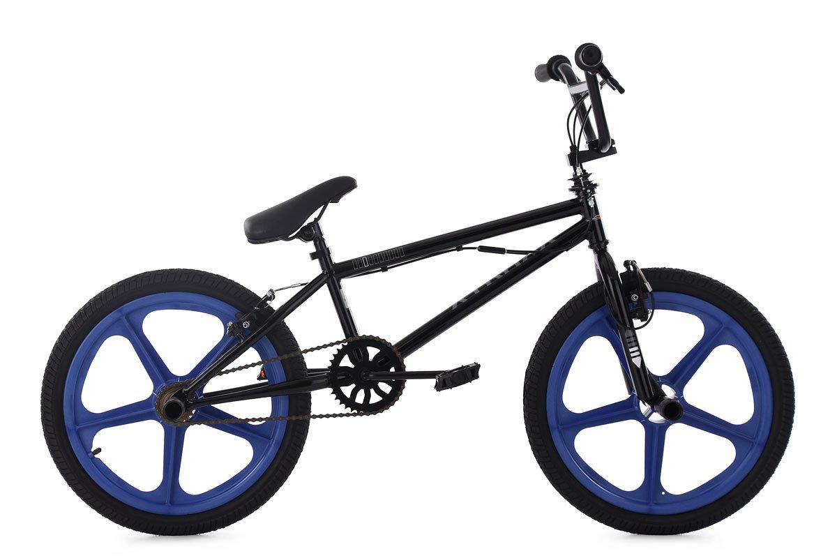 KS Cycling BMX Freestyle Xtraxx Fahrrad, schwarz-Blau, 20