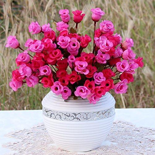 Sala de decoración de mesa jardin simulación Set pequeñas flores de seda Flor tapiceria decoracion flor,E: Amazon.es: Hogar