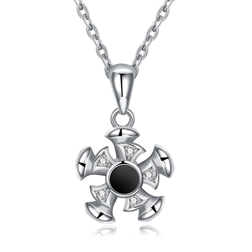 YJEdward 925 Silver Star Necklace Pendant Wedding Set Simulated Diamond Gift For Mother