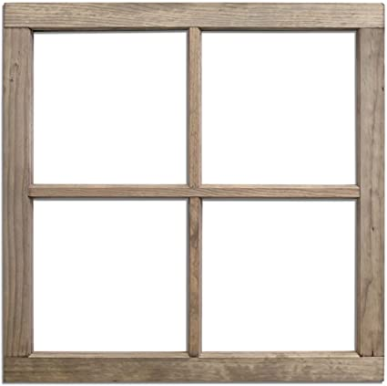 Amazon.com: Salvaged, by BCI Crafts Wood Window, 4-Pane