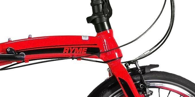 RYMEBIKES Bicicleta Plegable 20ŽŽ City Red: Amazon.es: Deportes y aire libre