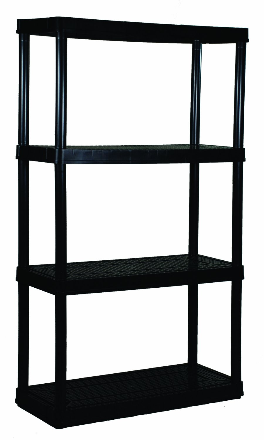 Gracious Living 4 Medium Duty Shelf Unit, Black by Gracious Living
