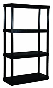 Gracious Living 4 Medium Duty Shelf Unit, Black