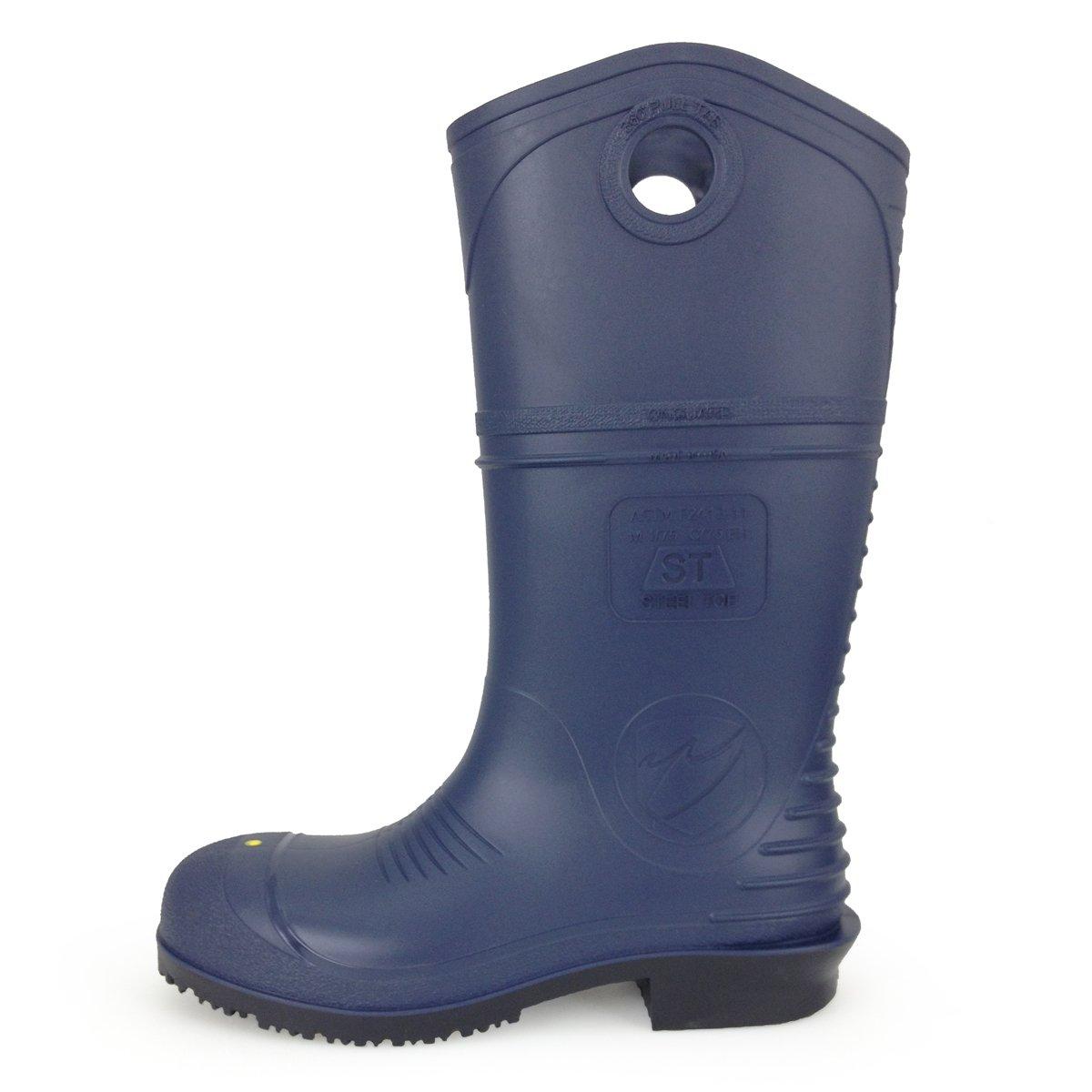 UltraSource 440037-5 DuraPro PVC Boots, 15'', Blue, Steel Toe, Size 5 (Pair)