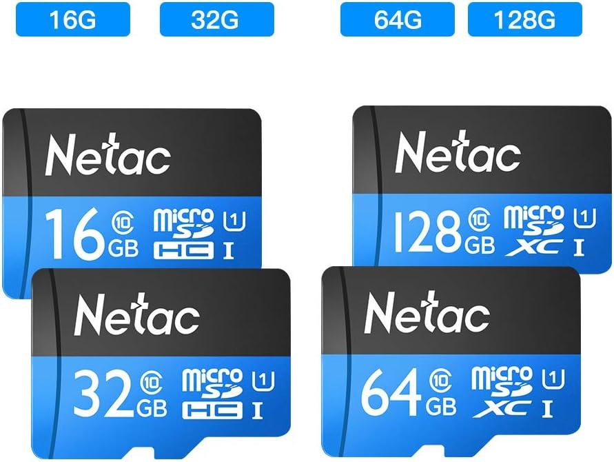 Artboy Netac P500 Class 10 32G Micro SDHC TF Flash Memory Card Data Storage UHS-1 High Speed Up to 80MB//s