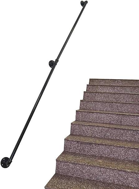 Leilims Industrial de tuberías barandillas for escaleras, pasamanos de Seguridad Barra de Soporte for Ancianos Uso niños en los pasillos, rampas o escaleras, montado en la Pared Apoyos 250kg: Amazon.es: Hogar