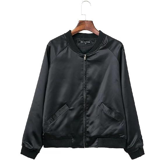 Sport De Femme Zippé Satin Jacket Veste Longue Vêtement En Manche qwSFB604