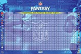 NFL Officially Licensed Fantasy Football Draft Kit, 2018 Model included with over 500 Player Labels