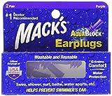 Mack's AquaBlock Earplugs - Purple (2 pair) Pack of 3