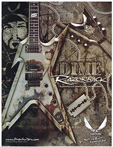 Dean Guitars - Dime Razorback - Dimebag Darrell - 2005 Print Advertisement