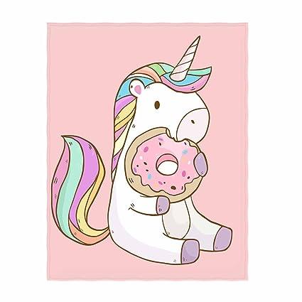 amazon com qh cute cartoon unicorn pattern throw blanket cute