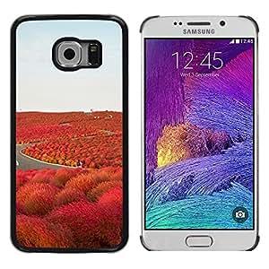 """Pulsar Snap-on Series Teléfono Carcasa Funda Case Caso para Samsung Galaxy S6 EDGE / SM-G925(NOT FOR S6) , Camino de la Libertad Islandia púrpura"""""""
