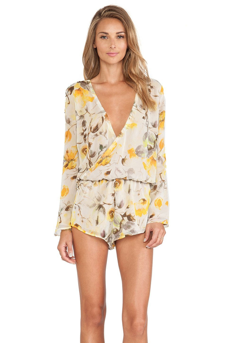 Kennedy Romper | Yellow Floral