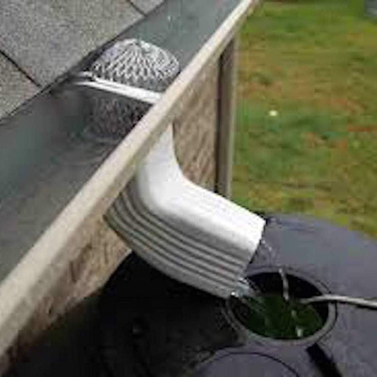 iFCOW 4pcs Gutter Guard 3Inch Filtro de Hoja de colador de canal/ón expandible