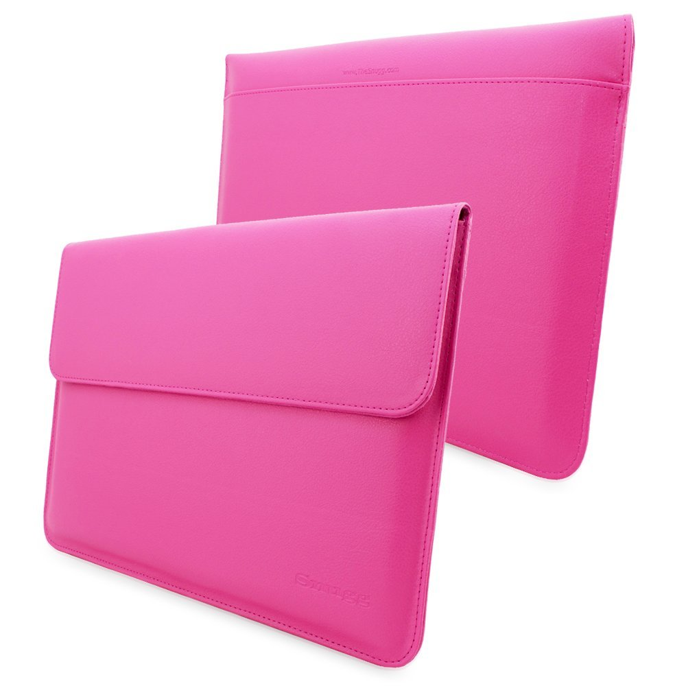 MacBook 12 Sleeve, Snugg - Hot Pink Leather Sleeve Case Protective Cover for MacBook 12 by Snugg (Image #1)