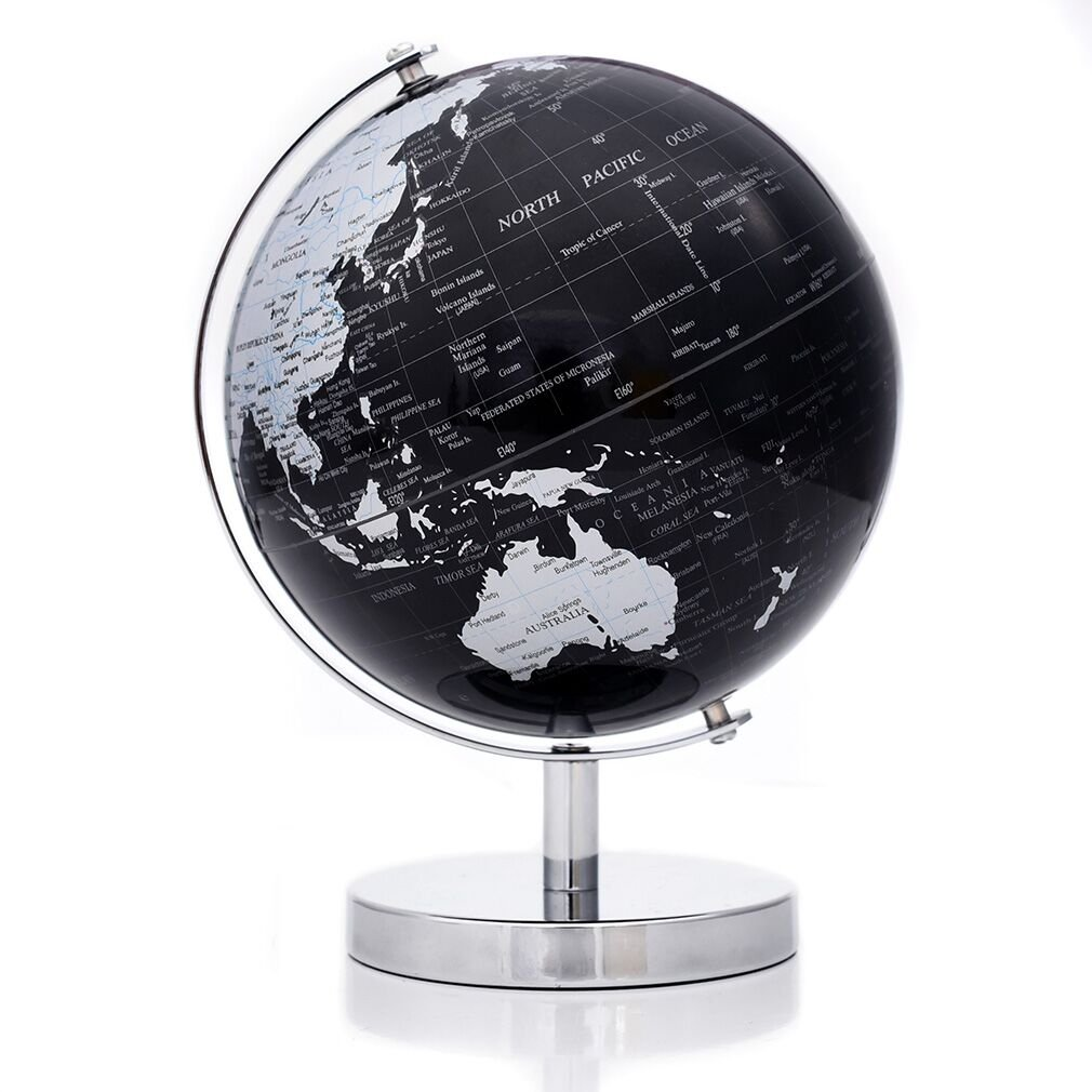 AyFUN Geographic Scout Political Swivel and Tilt Decorative Educational Learning Rotating Desktop World Globe, 6-Inch